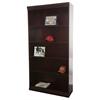 "Jefferson traditional wood veneer bookcase, 84"" H, Medium Cherry"