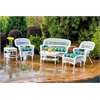 Tortuga Outdoor Portside 6Pc Seating - White - Haliwell Caribbean