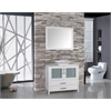 "Jordan 48"" Single Sink Bathroom Vanity Set, White"