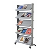 """PAPERFLOW Single sided """"XL"""" literature display. Silver"""