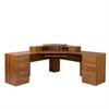 American Furniture Classics L Workcenter with Monitor Platform