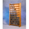 Wood Shed Solid Oak 10 Shelf CD Cabinet