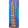 Solid Oak 10 Row Dowel Tower CD Rack