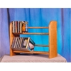 Wood Shed Solid Oak 2 Row Dowel CD Rack
