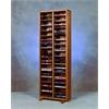 Wood Shed Solid Oak Tower for DVD's (Individual Locking Slots)