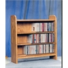 Wood Shed Solid Oak 3 Shelf CD Cabinet