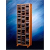 Wood Shed Solid Oak Tower for CD's (Individual Locking Slots)