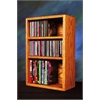 Solid Oak desktop or shelf for CD's and DVD's/ VHS Tapes