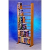 Wood Shed Solid Oak 6 Row Dowel VHS Rack (Clamshell/ Disney style)