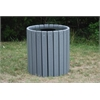 Frog Furnishings 32 Gal. Gray Heavy Duty Round Receptacle