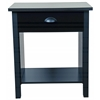 Nouvelle Night Stand, 21-1/4 x 16 x 24-3/4, Black