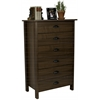 6 Drawer Nouvelle Chest, 28-1/2 x 16 x 44-1/2, Walnut
