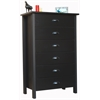 6 Drawer Nouvelle Chest, 28-1/2 x 16 x 44-1/2, Black