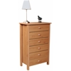6 Drawer Nouvelle Chest, 28-1/2 x 16 x 44-1/2, Oak