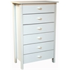 6 Drawer Nouvelle Chest, 28-1/2 x 16 x 44-1/2, White