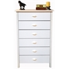 Venture Horizon 6 Drawer Nouvelle Chest, 28-1/2 x 16 x 44-1/2, White