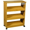 Shoe Racks-3 W/Top & Casters, 24 x 12 x 31, Oak