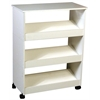 Shoe Racks-3 W/Top & Casters, 24 x 12 x 31, White