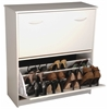 Double Shoe Chest, 30 x 11-1/2 x 34, White
