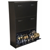 Triple Shoe Chest, 30 x 11-1/2 x 48, Black