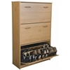Triple Shoe Chest, 30 x 11-1/2 x 48, Oak