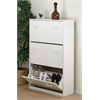 Triple Shoe Chest, 30 x 11-1/2 x 48, White