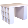 Project Center With 2 Bookcases, 55 x 41 x 38-1/2, White