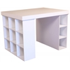 Project Center With 1 Bookcase & 3 Bin Cabinet, 55 x 41 x 38-1/2, White