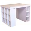 Venture Horizon Project Center With 1 Bookcase & 3 Bin Cabinet, 55 x 41 x 38-1/2, White