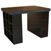 Project Center With 1 Bookcase & 3 Bin Cabinet, 55 x 41 x 38-1/2, Black