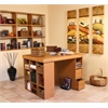 Venture Horizon Project Center With 1 Bookcase & 3 Bin Cabinet, 55 x 41 x 38-1/2, Oak
