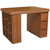 Project Center With 1 Bookcase & 3 Bin Cabinet, 55 x 41 x 38-1/2, Dark Walnut