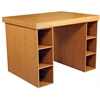 Project Center With 2-3 Bin Cabinets, 55 x 41 x 38-1/2, Oak