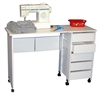 Mobile Desk/Workstation, 43 x 16 x 29, White
