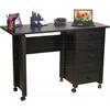 Venture Horizon Folding Mobile Desk, 45 x 18 x 29, Black