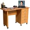 Folding Mobile Desk, 45 x 18 x 29, Oak