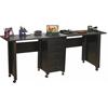 Venture Horizon Double Folding Mobile Desk, 71 x 18 x 29, Black