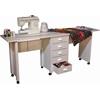 Venture Horizon Double Folding Mobile Desk, 71 x 18 x 29, White