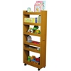 Thin Man Pantry Cabinet, 10 x 23-1/2 x 58, Oak