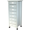 8-Drawer Mobile Cart Bead Board, 18 x 18 x 43, White