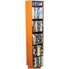 Revolving Media Library, 10 x 10 x 48, Cherry