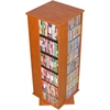 Revolving Media Tower 800, 19-1/4 x 19 x 50, Cherry