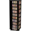 Revolving Media Tower 1000, 19-1/4 x 19-1/4 x 63, Black