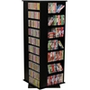 Revolving Media Tower Grande, 24 x 24 x 63, Black
