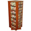 Revolving Media Tower Grande, 24 x 24 x 63, Cherry