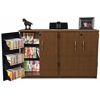 Double Wide Tape Storage, 48-1/2 x 13 x 31, Cherry