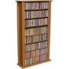 Media Storage Tower-Regular Single, 28 x 9-1/2 x 50, Cherry