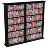 Media Storage Tower-Regular Double, 52 x 9-1/2 x 50, Black
