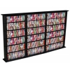 Media Storage Tower-Regular Triple, 76 x 9-1/2 x 50, Black