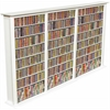 Media Storage Tower-Regular Triple, 76 x 9-1/2 x 50, White